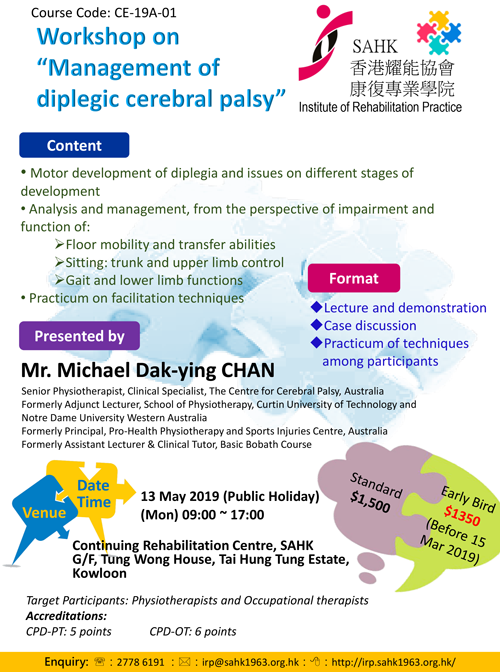 Workshop on Management of diplegic cerebral palsy